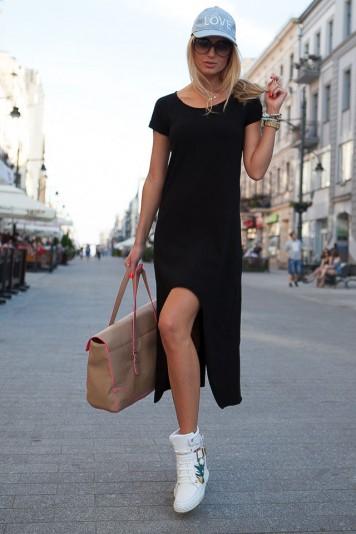Letné čierne šaty
