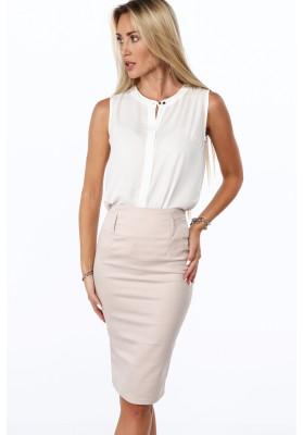 Elegantná ceruzková sukňa, béžová
