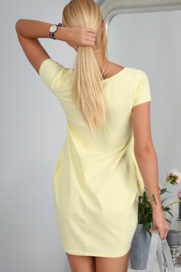 Športové šaty citrónové