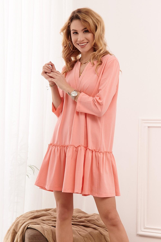 voľné ružové šaty