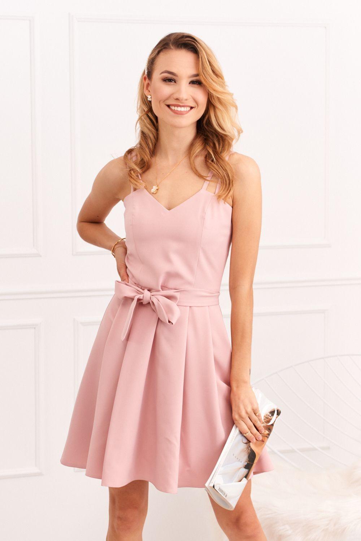 Ružové šaty na ramienka