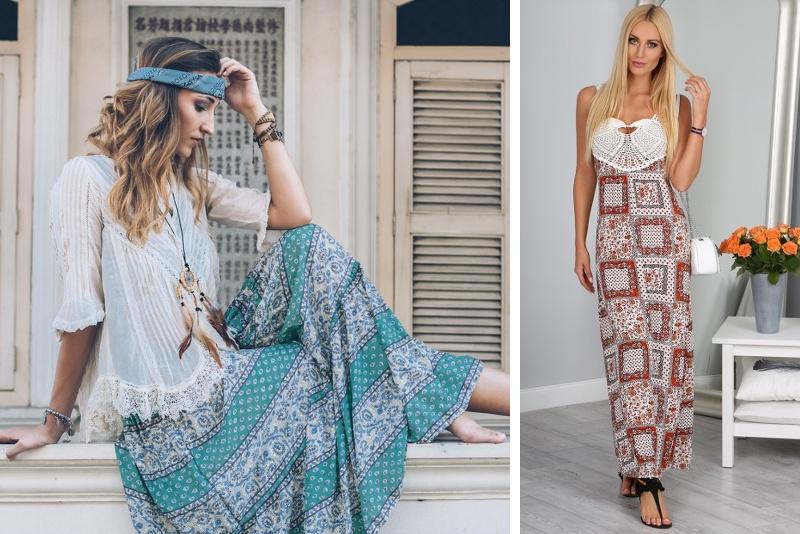 Dlhé sukne so vzorom sú ideálne na leto