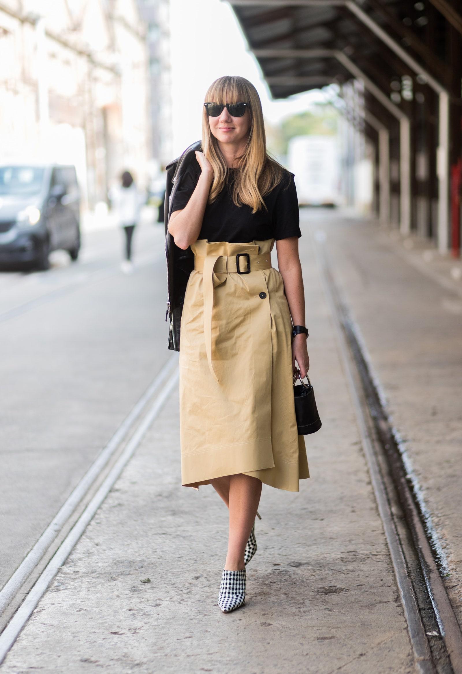 Inšpirácia na letný outfit so sukňou.