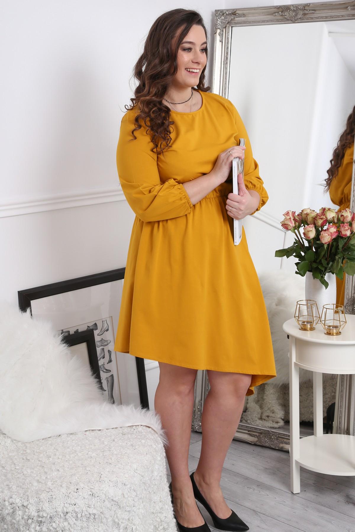 Žlté letné šaty pre moletky