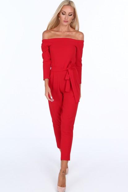 Elegantný červený overal Fasardi