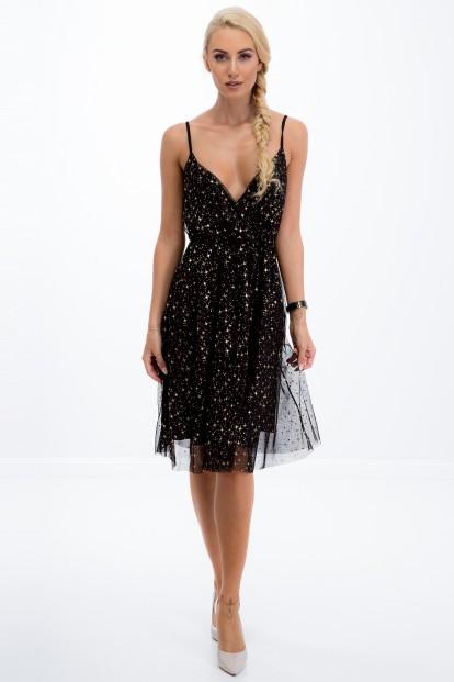 Šaty s jemnými flitrami Fasardi